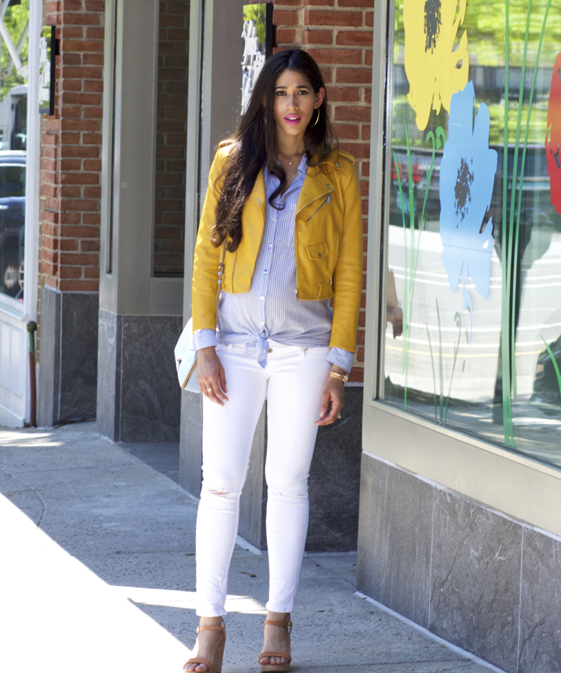 what to wear with yellow shirt