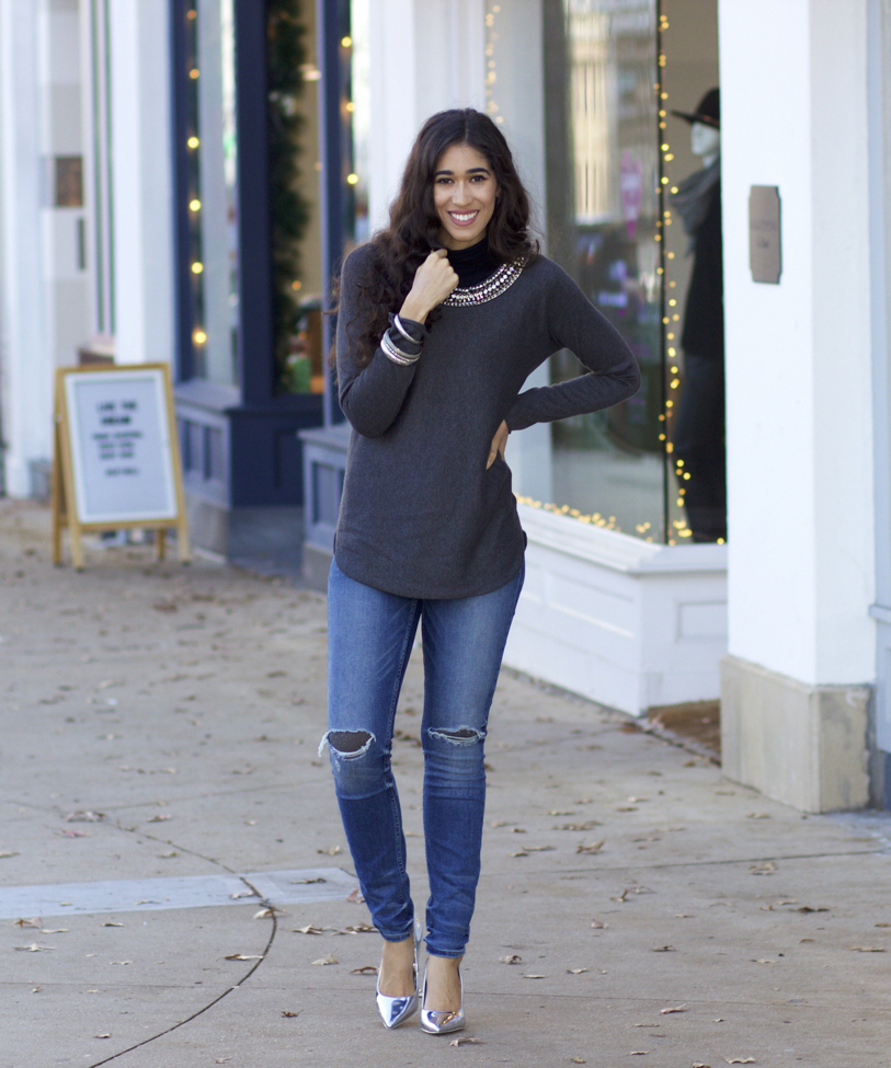 How to Wear Ripped Jeans in Winter - The Style Contour