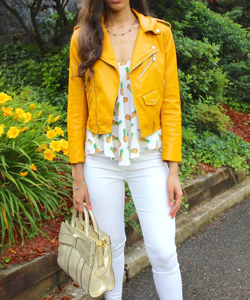Leather jacket yellow zara - Get The Look Jacket Zara