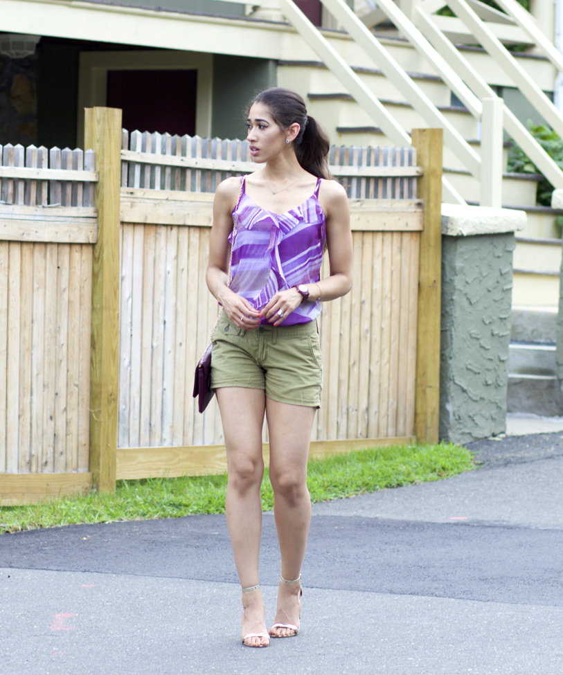 purple and green outfit