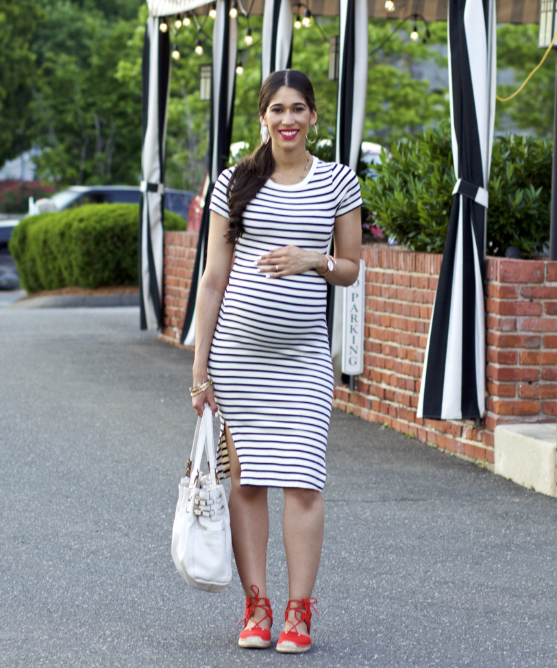 Stripes With Pops Of Red The Style Contour