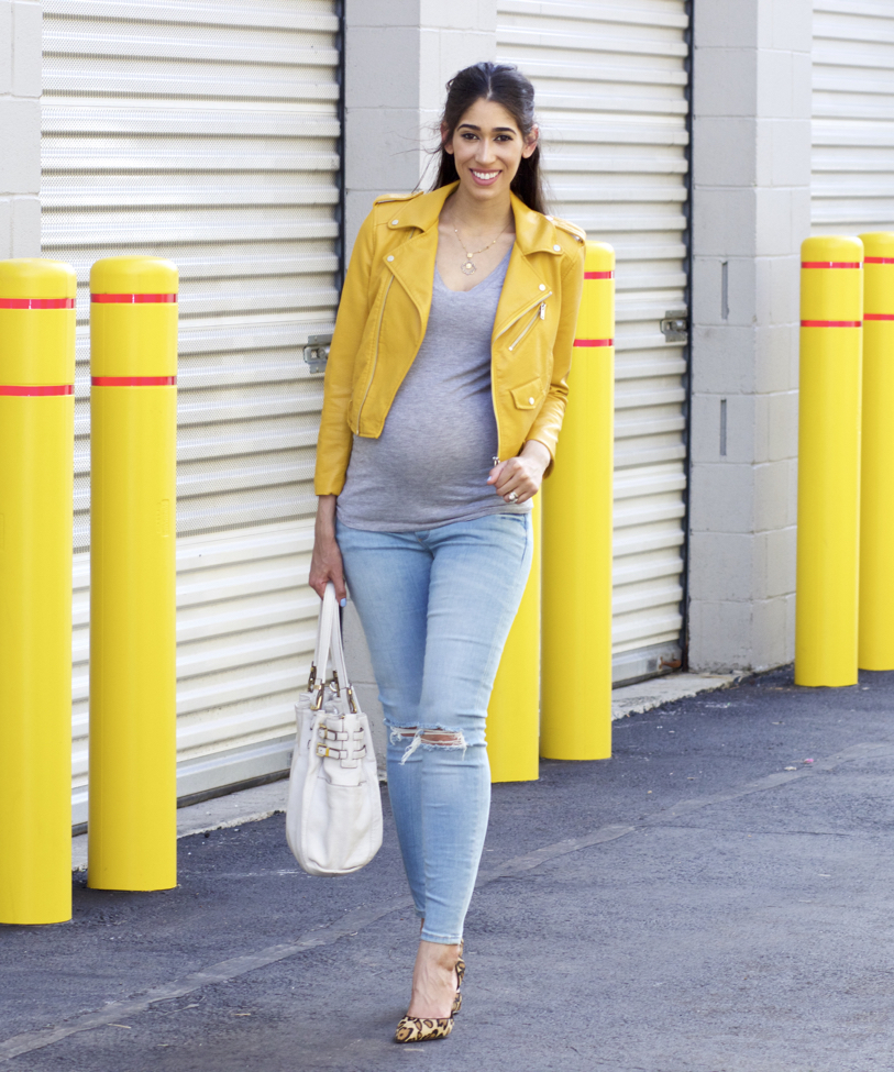 Yellow + My First Pair of Maternity Jeans!