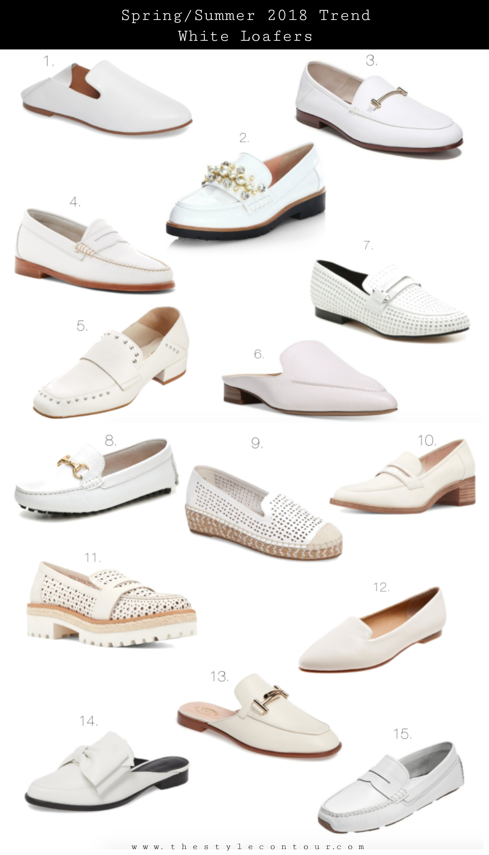 9f83e98288 Fashion Forecast: White Loafer Trend 2018 - The Style Contour