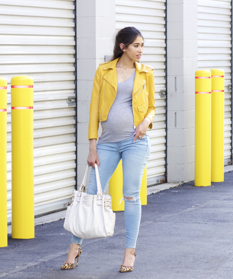 6244e67e03756 Yellow + My First Pair of Maternity Jeans! - The Style Contour